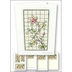 Download - Card Kit - Stained Glass Rose
