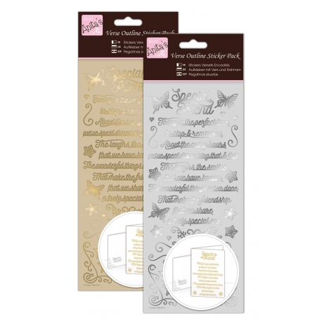 Anita's Peel-offs - Verses, Special Friend Gold & Silver (ANT