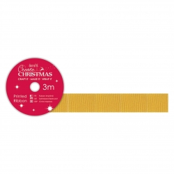 Create Christmas Grosgrain Gold (PMA 367953)