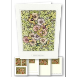 Download - Card Kit - Stained Glass Flowers & Butterflies