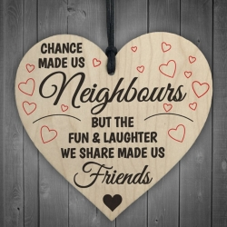 Wooden sign - Neighbours (1pc)