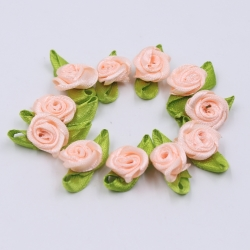 Ribbon Roses - Peach (50pcs)