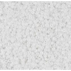 2mm Glass Seed Beads - White (1000pcs)
