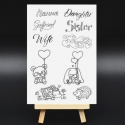Clear Stamp set - Female Relatives (10pcs)