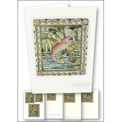 Download - Card Kit - Stained Glass Carp