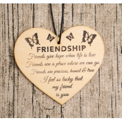 Wooden sign - Friendship (1pc)
