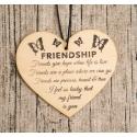 Wooden sign - Friendship (1pc)