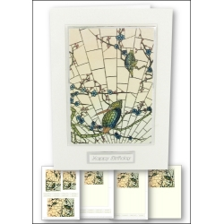 Download - Card Kit - Stained Glass Kingfisher