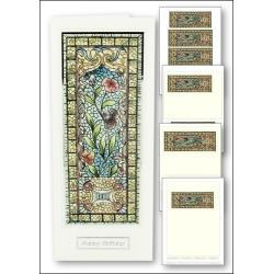 Download - Card Kit - Stained Glass Hibiscus