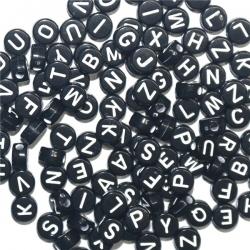 Alphabet Beads - Black (100pcs)