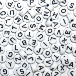 Alphabet Beads - White (100pcs)