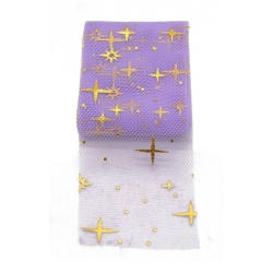 Tulle Ribbon with Stars - Lilac (5m)