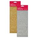 Anita's Peel-offs - Traditional Xmas Verses Gold & Silver (PMA 810912/3)