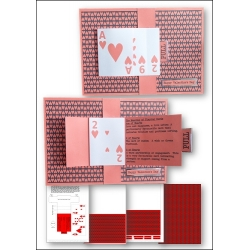 Download - Card Kit - Waterfall Playing Cards Valentine's card
