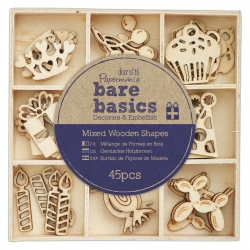 Wooden Shapes (45pcs) - Celebration (PMA 174698)