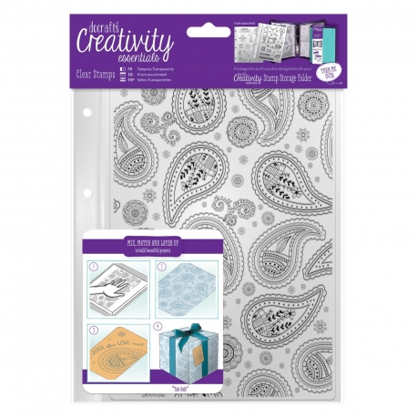 A5 Clear Stamp (1pc) - Paisley Background (DCE 907103)