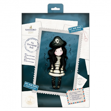 A4 Decoupage Pack - Gorjuss, Piracy (GOR 169125)
