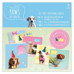 """5 x 5"""" Dress Up Card Kit - Paws for Thought (PMA 150634)"""