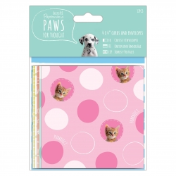 """4 x 4"""" Cards & Envelopes - Paws for Thought (PMA 150652)"""