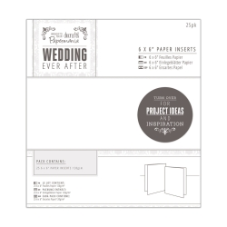 "Edit: 6 x 6"" Paper Inserts (25pk) - Wedding White (PMA 158130)"