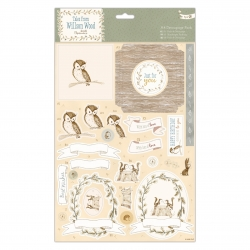A4 Decoupage Pack - Tales from Willson Wood, Woodland Creatures (PMA 169336)