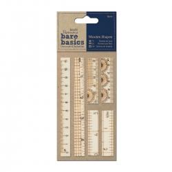 Wooden Ruler Shapes, 6pcs (PMA 174602 )
