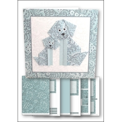 Download - Card kit - Origami Dog Teal