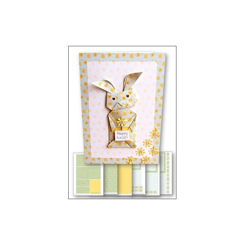 Download Card Kit Origami Easter Bunny Pastel Green