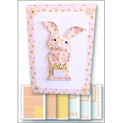 Download - Card Kit - Origami Easter Bunny Pink