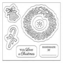 90 x 90mm Clear Stamp (5pcs) - A Christmas Wish (PMA DCM 085)