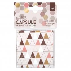 Mini Cards Envelopes Geometric Mocha Pma Dcm