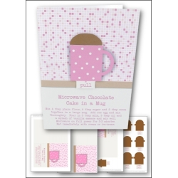 Download - Card Kit - Simple Chocolate Cake in a Mug Card, Pink