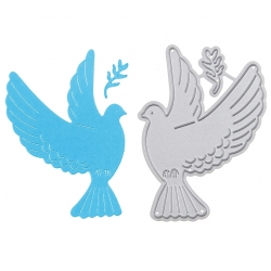 Printable Heaven dies - Flying Dove & Leaf (2pcs)