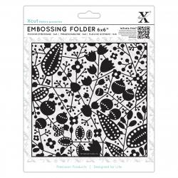 """6 x 6"""" Xcut Embossing Folder - Berries (XCU 515193)"""