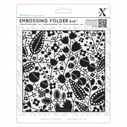 "6 x 6"" Xcut Embossing Folder - Berries (XCU 515193)"