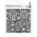 "6 x 6"" Xcut Embossing Folder - Chrysanthemums (XCU 515194)"