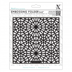 "6 x 6"" Xcut Embossing Folder - Moroccan Star Pattern (XCU 515195)"