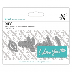 Mini Sentiment Die (4pcs) - I Love You (XCU 504051)