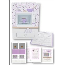 Download - Card Kit - Microwave Chocolate Cake in a Mug, Lilac
