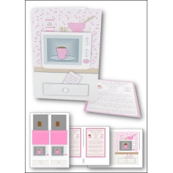 Download - Card Kit - Microwave Chocolate Cake in a Mug, Pink