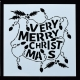 Reusable Stencil - Very Merry Christmas (1pc)