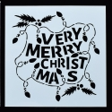 13 x 13cm Reusable Stencil - Very Merry Christmas (1pc)