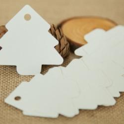 Christmas Tree Tags - White (50pcs)