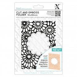 110 x 150mm Cut & Emboss Folder - Hearts & Flowers (XCU 503820)