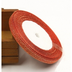 Metallic Ribbon - 7mm Red/Gold (22.86 metres)