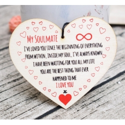 Wooden sign - My Soulmate (1pc)