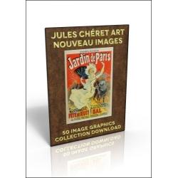 Download - 50 Image Graphics Collection - Jules Cheret Art Nouveau Images