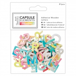 Adhesive Wooden Alphabet Pack (81pcs) - Elements Pigment (PMA 174684)
