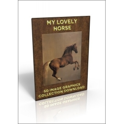 Download - 50 Image Graphics Collection - My Lovely Horse