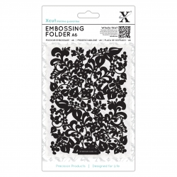 A6 Embossing Folder - Sweeping Florals (XCU 515189)